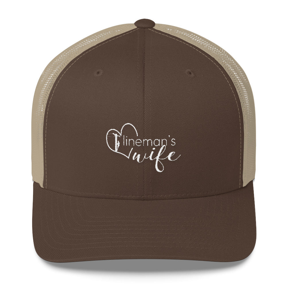 Lineman's Wife Trucker Cap - Linemen Rock - Lineman Shirts