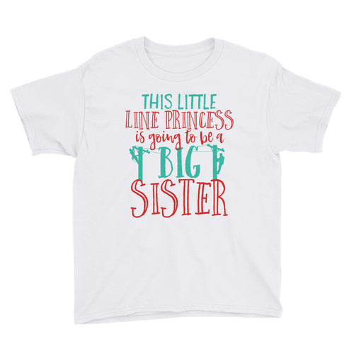 Big Sister Youth Short Sleeve T-Shirt - Linemen Rock - Lineman Shirts