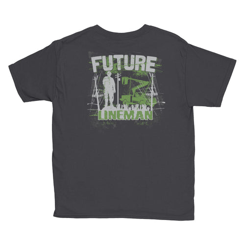 Future Lineman Youth Short Sleeve T-Shirt - Linemen Rock - Lineman Shirts