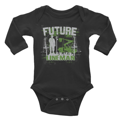 Future Lineman Infant Long Sleeve Bodysuit