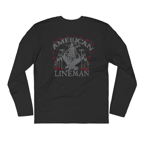 American Lineman Long Sleeve Tee - Linemen Rock - Lineman Shirts