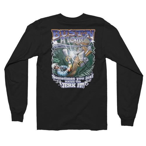 Bust'n A Load Long Sleeve T-shirt - Linemen Rock - Lineman Shirts