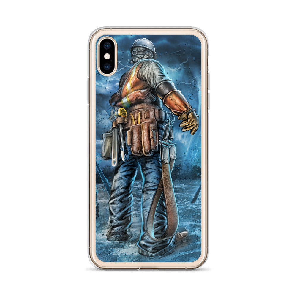 Stand In The Storm iPhone Case - Linemen Rock - Lineman Shirts