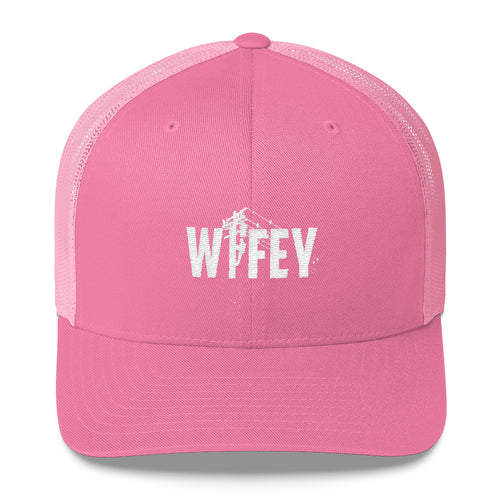 Wifey Trucker Cap - Linemen Rock - Lineman Shirts