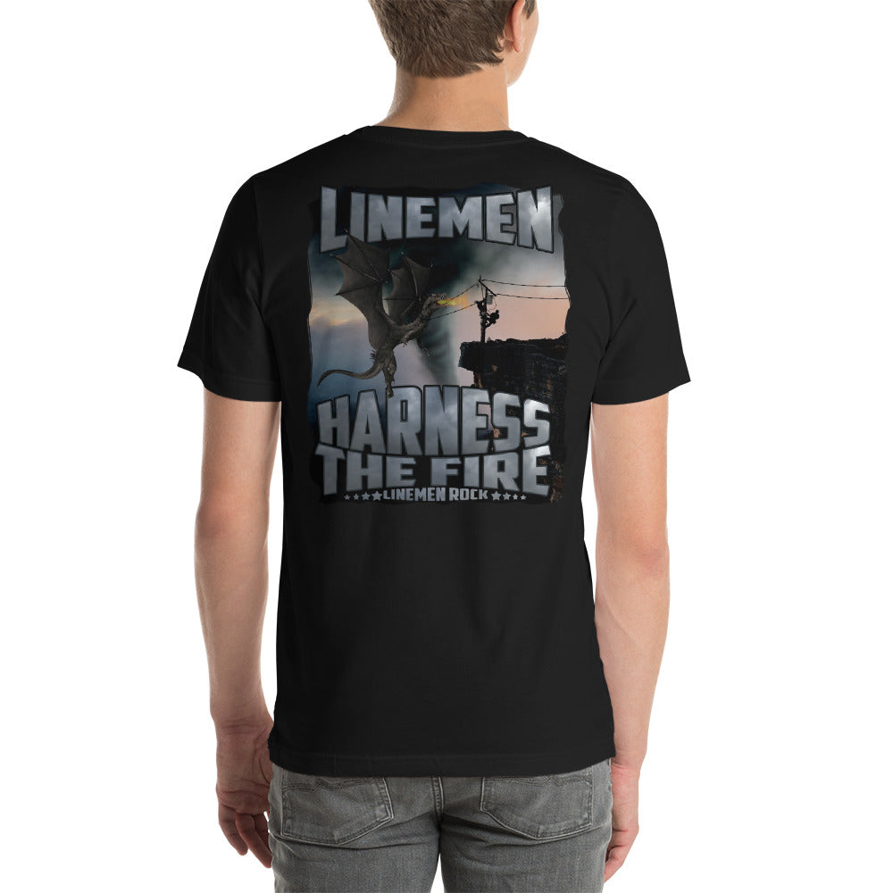 Linemen Harness The Fire - Linemen Rock - Lineman Shirts
