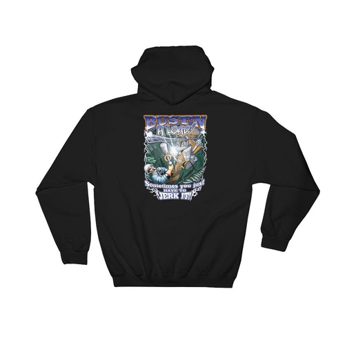 Bust'n A Load Hooded Sweatshirt - Linemen Rock - Lineman Shirts