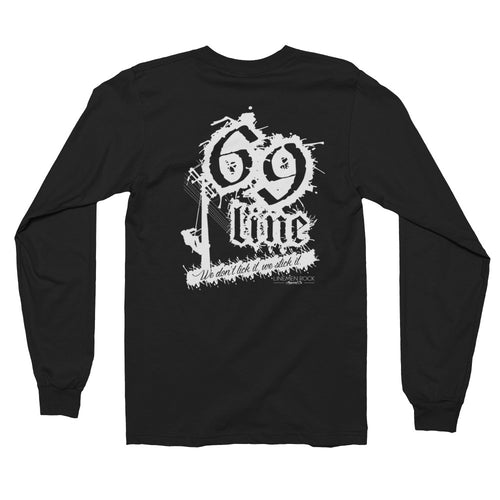 69 Line Stick It Long sleeve t-shirt - Linemen Rock - Lineman Shirts