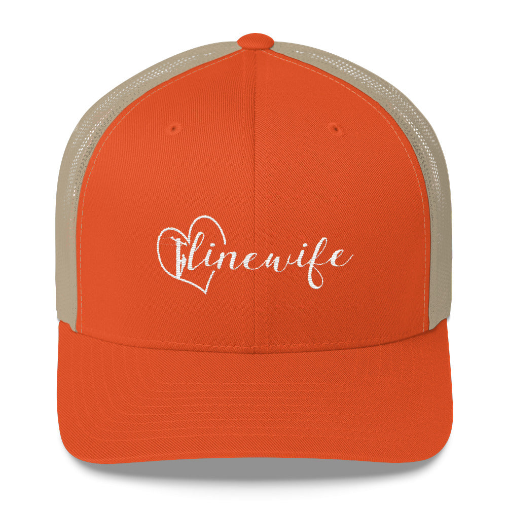 Linewife Trucker Cap - Linemen Rock - Lineman Shirts