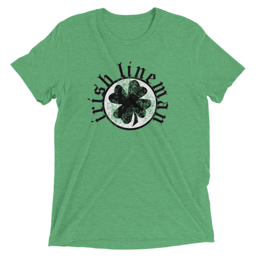 Irish Lineman St Patrick's Day Shirt Short sleeve t-shirt