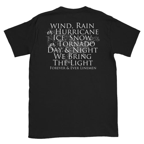 Wind Rain and Hurricane Short-Sleeve T-Shirt - Linemen Rock - Lineman Shirts