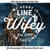 My Heart is On The Line Line Wifey Circle Decal