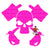 Pink Skull Crossed Hooks Decal
