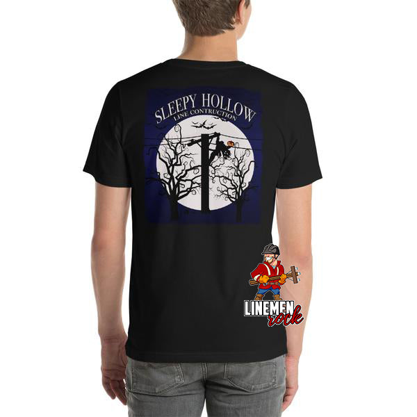 Sleepy Hollow Line Construction Halloween Lineman Shirt