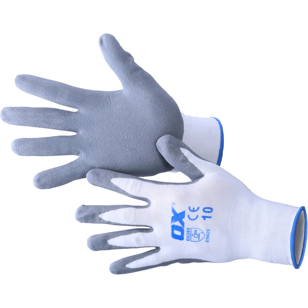 OX Safety Nitrile Gloves - Nylon Lined