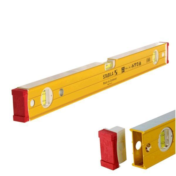 Stabila 96-2 Box Frame Ribbed Spirit Level 1200mm - Trade 3 Vial