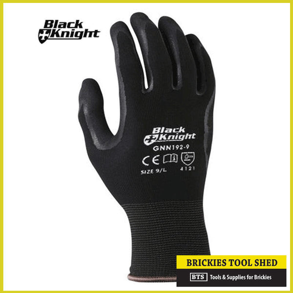 XL Black Knight's Black Knight Gloves Ninja Style Work Gloves SIZE XL