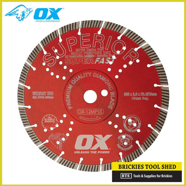 "OX Professional MPSS 16"" Diamond Saw Blade - Superfast Seg. Turbo RRP $595"