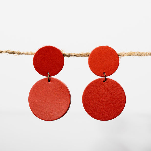 Double Red Earrings - YSRA Supply