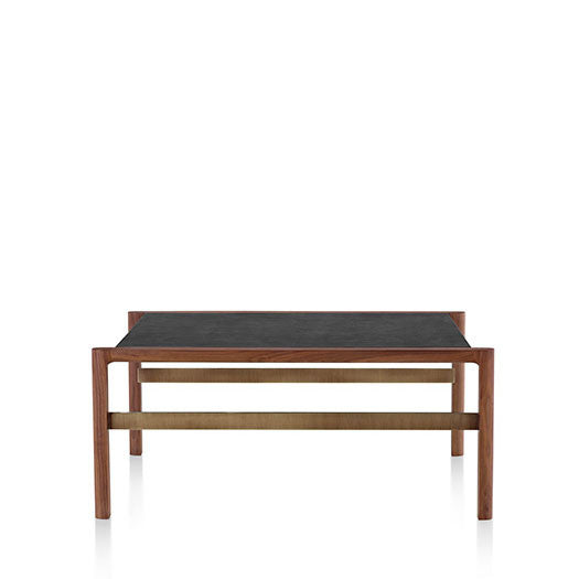 Geiger Brabo™ Occasional Side Table with Leather-wrapped Top