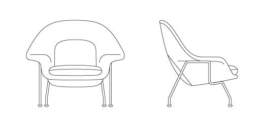 Knoll Eero Saarinen - Childs Womb Chair