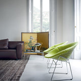 Knoll Harry Bertoia - Diamond Lounge Chair - Large, Fully Upholstered with glides