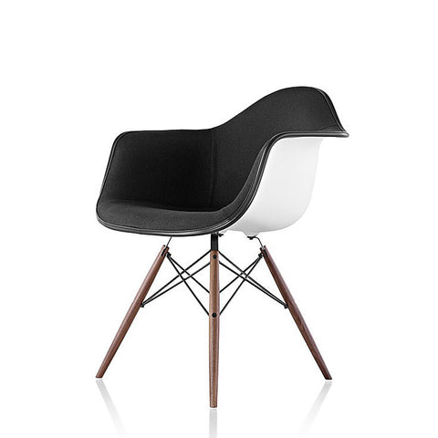 Herman Miller Eames® Molded Fiberglass Armchair Dowel Base with Upholstered Shell