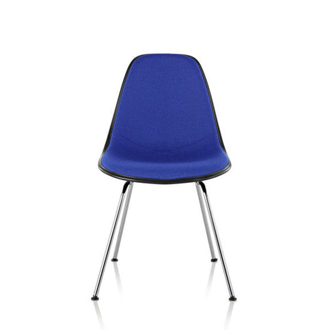 Herman Miller Eames® Molded Fiberglass Side Chair 4-Leg Base with Upholstered Shell