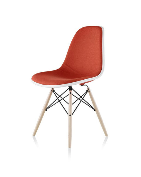 Herman Miller Eames® Molded Fiberglass Side Chair Dowel Base with Upholstered Shell