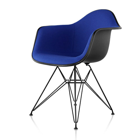 Herman Miller Eames® Molded Fiberglass Armchair Wire Base with Upholstered Shell