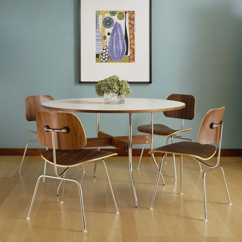 Herman Miller Eames® Molded Plywood Dining Chair Metal Base