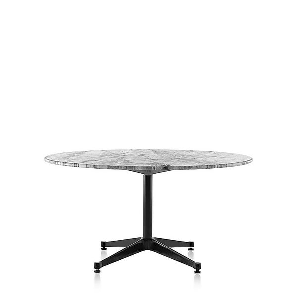 "Herman Miller Eames® Table Outdoor - Round Stone Top with Contract Base, 28.5"" high"