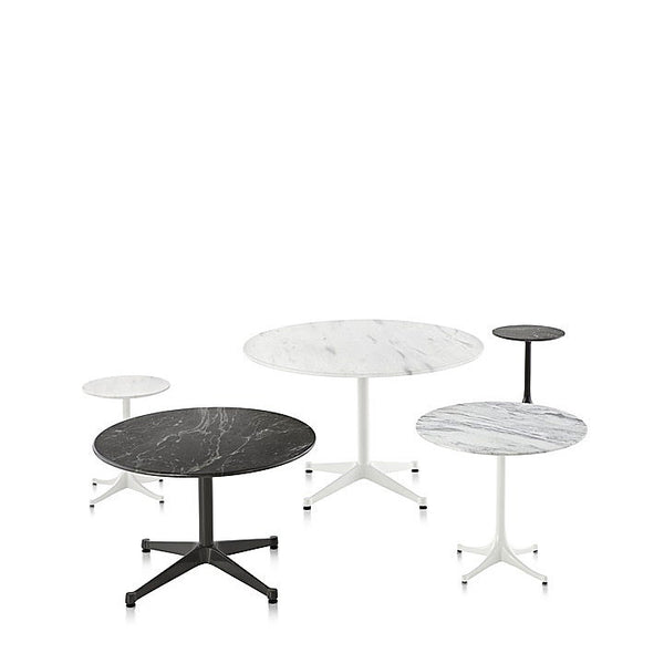 "Herman Miller Eames® Table Outdoor - Round Stone Top with Contract Base, 16"" high"