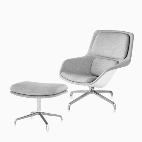 Striad® Lounge Chair and Ottoman
