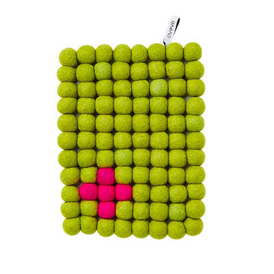 Aveva Wool Trivets - Rectangular Apple 1049