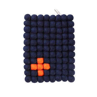 Aveva Wool Trivets - Rectangular Blue 1020