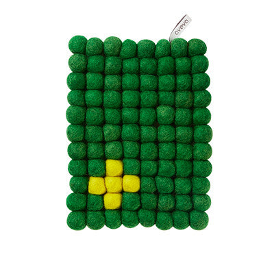 Aveva Wool Trivets - Rectangular Green 1015