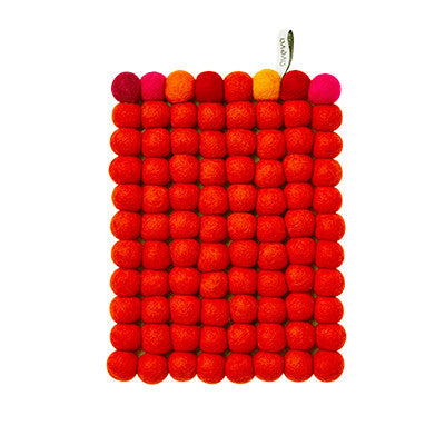 Aveva Wool Trivets - Orange Multi 1088
