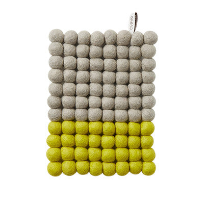 Aveva Wool Trivets - Rectangular Lime Dip 1170