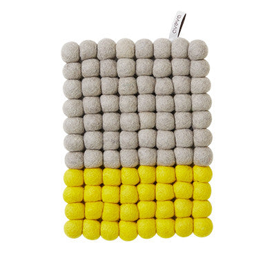Aveva Wool Trivets - Yellow Dip 1040