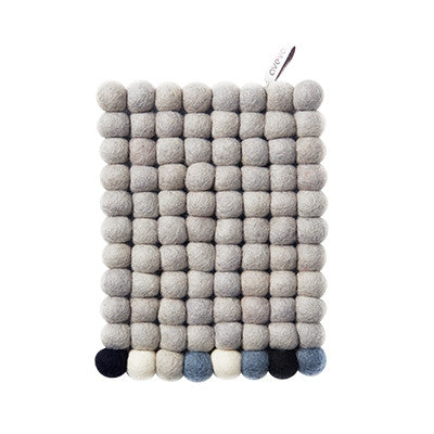 Aveva Wool Trivets - Rectangular Grey Multi 1194