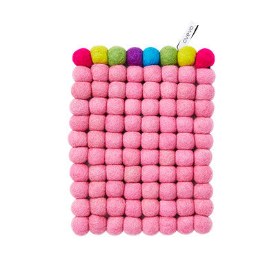 Aveva Wool Trivets - Rectangular Pink Multi 1047