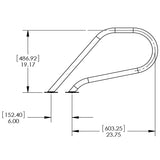 S.R. Smith P Grab Rail - Flange / Single