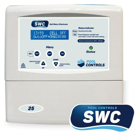 Pool Controls SWC 25 Low Salt Chlorinator with Optional pH Doser