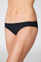 drawstring shirred bikini bottom black