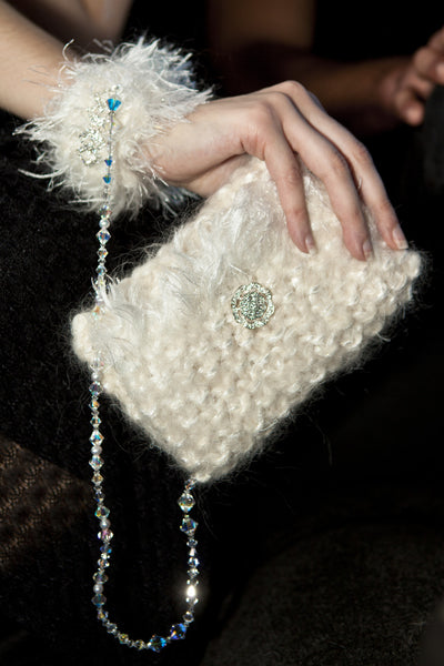 Compassionate Fur Handcuff Swarovski Clutch w/ Wearable-Tech Platform