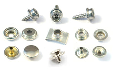 Snap Fasteners Brass nickel plated Genuine DOT brand