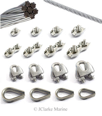 Wire Clamps and thimbles