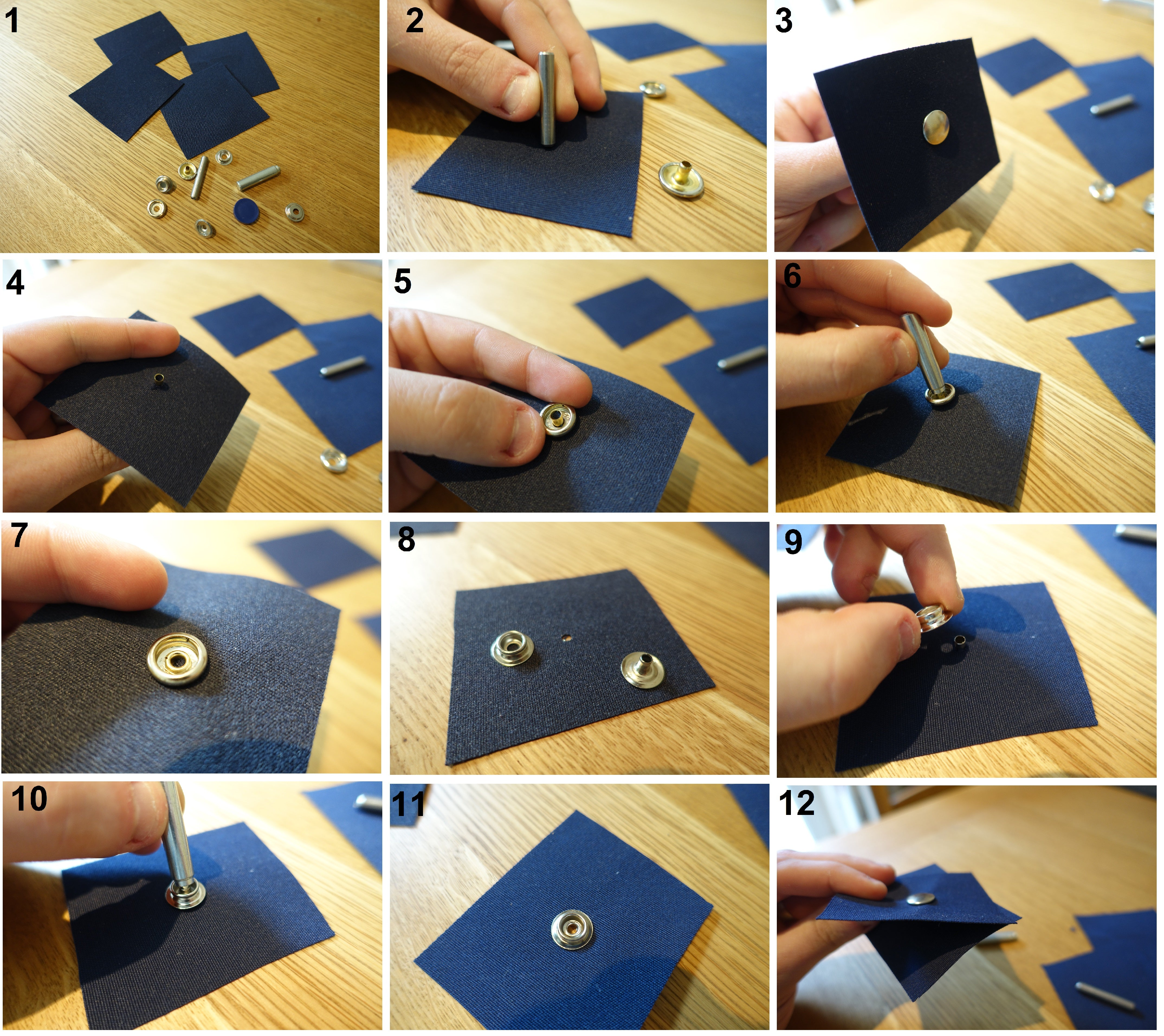 How to fit press snap fasteners and their difference uses