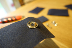 How to fit lift the dot fasteners canvas to canvas