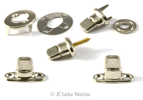 Turnbuckle fasteners canopy